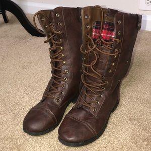 Shoes - Dark Brown Combat Boots